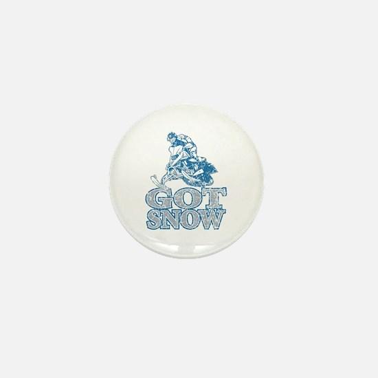 Unique Snow mobile Mini Button