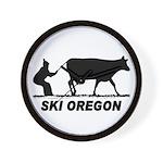 Ski Oregon Wall Clock