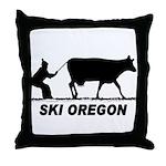 Ski Oregon Throw Pillow