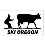 Ski Oregon Rectangle Sticker 10 pk)