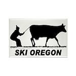 Ski Oregon Rectangle Magnet (100 pack)