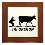 Ski Oregon Framed Tile