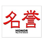 Samurai Honor Kanji Small Poster