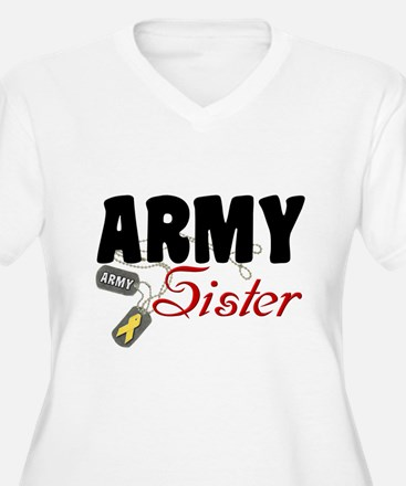 Army Sister Dog Tags T-Shirt
