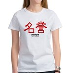 Samurai Honor Kanji (Front) Women's T-Shirt
