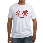Samurai Honor Kanji Fitted T-Shirt