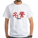Samurai Honor Kanji (Front) White T-Shirt