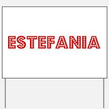 Retro Estefania (Red) Yard Sign