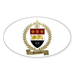 BASTINEAU Family Crest Oval Decal