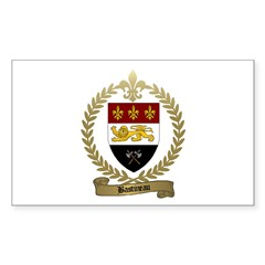 BASTINEAU Family Crest Rectangle Decal