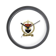 BASTINEAU Family Crest Wall Clock