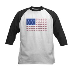 American Flag Made of Snowmobiles Tee