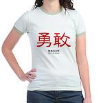 Samurai Brave Kanji Jr. Ringer T-Shirt