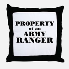 Property of an Army Ranger Throw Pillow