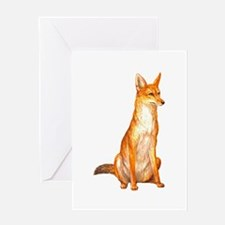 Golden Jackal Zoo Greeting Card