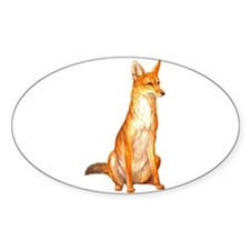 Golden Jackal Zoo Oval Decal