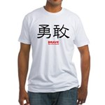 Samurai Brave Kanji Fitted T-Shirt