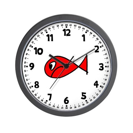 Fish wall clock by keepsake arts for Fish wall clock