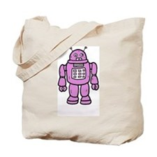 BIG PINK ROBOT TOTE BAG