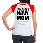 Navy For Mom's Women's Cap Sleeve T-Shirt