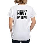 Navy For Mom's Women's V-Neck T-Shirt