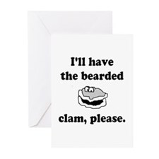 Bearded Clam Greeting Cards (Pk of 10)