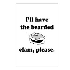 Bearded Clam Postcards (Package of 8)