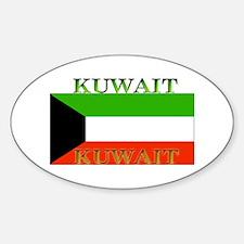 Kuwait Kuwaiti Flag Oval Decal