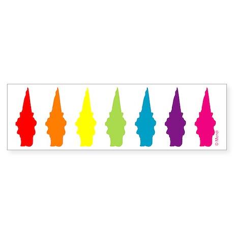 Rainbow Gnomes Bumper Sticker