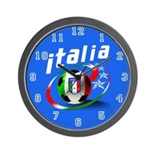 Italia Soccer World Sports Wall Clock