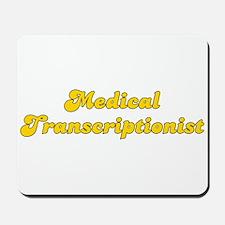 Retro Medical Tra.. (Gold) Mousepad