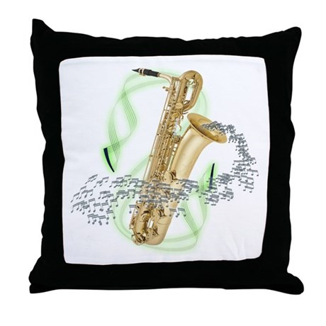 Baritone Saxophone Throw Pillow