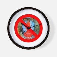No Baboons Wall Clock