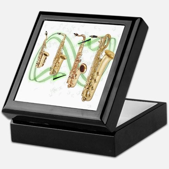 Saxophones Keepsake Box