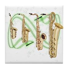 Saxophones Tile Coaster