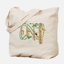 Saxophones Tote Bag