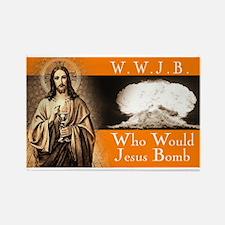 WWJB - Traditional Jesus Rectangle Magnet