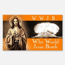 WWJB - Traditional Jesus Rectangle Decal