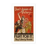 Don't Dream of Victory! Rectangle Sticker