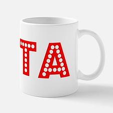 Retro Evita (Red) Small Mugs