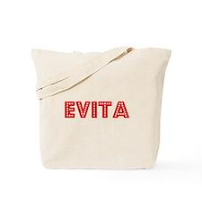 Retro Evita (Red) Tote Bag