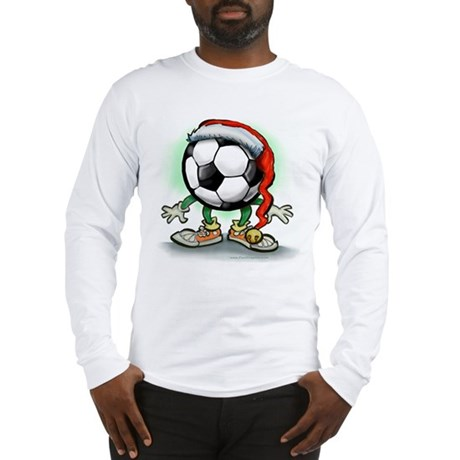 Soccer Christmas Tee Long Sleeve T-Shirt