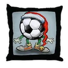 Cute Soccer Throw Pillow
