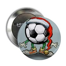 "Funny Soccer player 2.25"" Button"