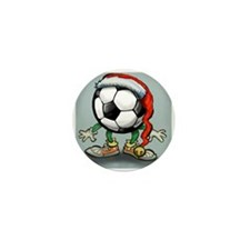 Funny Soccer player Mini Button