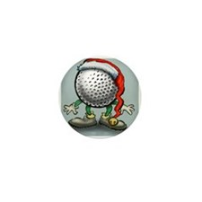 Cute Christmas for golfer Mini Button