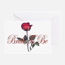 bride to be red Greeting Card