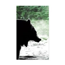 Bear Head Silhouette Rectangle Decal