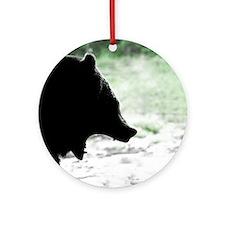 Bear Head Silhouette Keepsake (Round)