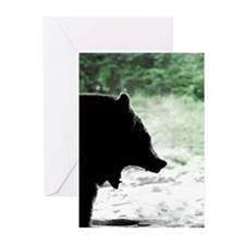 Bear Head Silhouette Greeting Cards (Pk of 10)